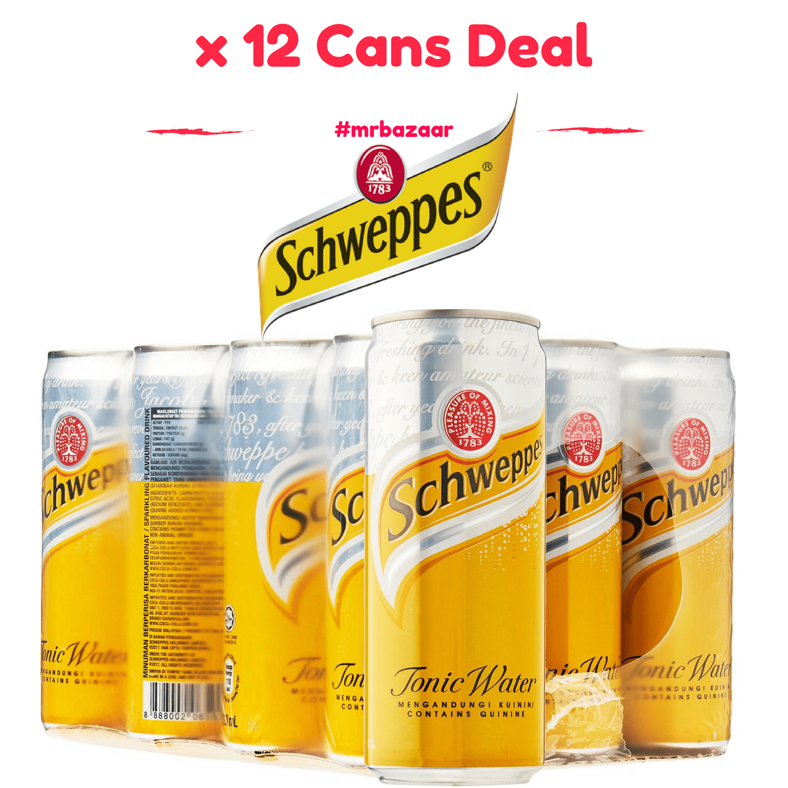 Schweppes Dry Ginger Ale x 12 Cans (320ml)