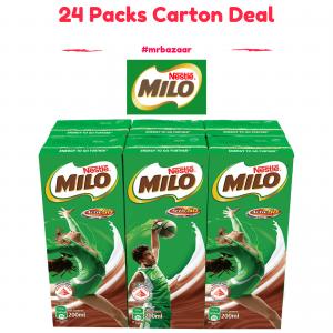 Nestle Milo UHT Chocolate Malt Packet Drink 24 Packs (200ml) Carton Deal